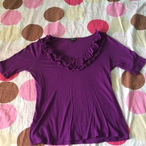 Small, Purple shirt from Express